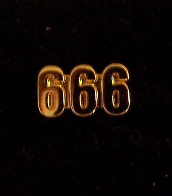 Medieval Doomsday Secret Occult Satanic Baphomet 666 999 Cult Devil Worship Pin