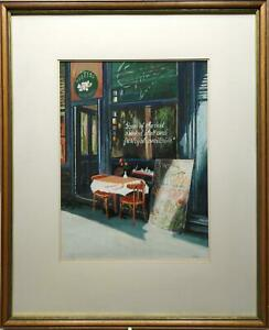 GRIMES-SEAFOOD-RESTAURANT-SELLING-OYSTERS-ORIGINAL-DRY-PASTEL-PAINTING-BY-HARVEY