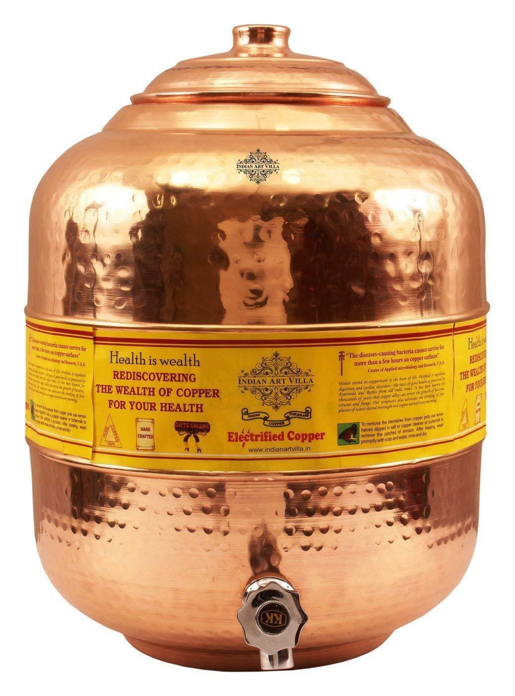 Pure Copper Big Size Water Storage Container Pot 16 Liter