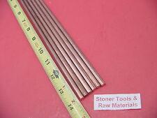 6 Pieces 14 C110 Copper Round Rod 14 Long H04 250 Cu New Lathe Bar Stock