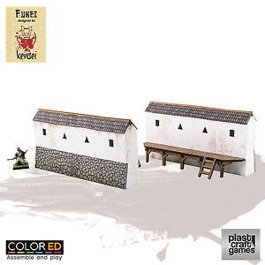 Plast-Craft-Games-Fukei-Colored-Castle-Wall-Kensei-box-new