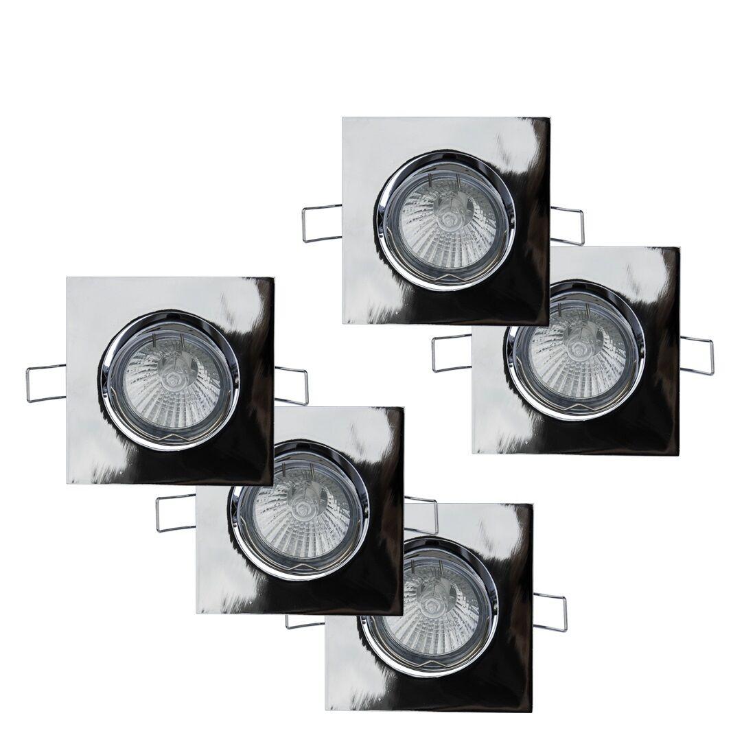 Einbaustrahler, schwenkbar, GU10, Metallgehäuse Chrom glänzend, 230V, Einbauspot       | Leicht zu reinigende Oberfläche  | Deutschland Shops  | Modern Und Elegant In Der Mode  0120bd