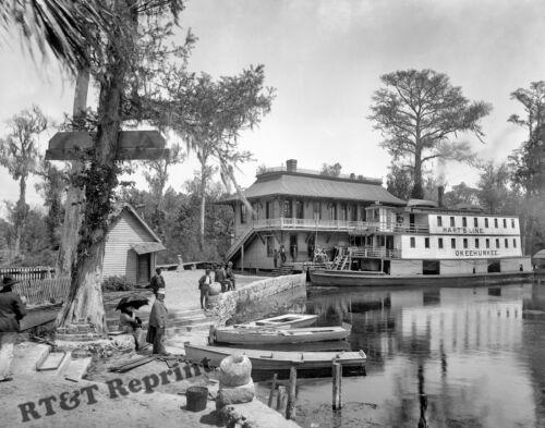 Photograph  Steamship Okeehumkee Florida Silver Springs Year 1902   8x10