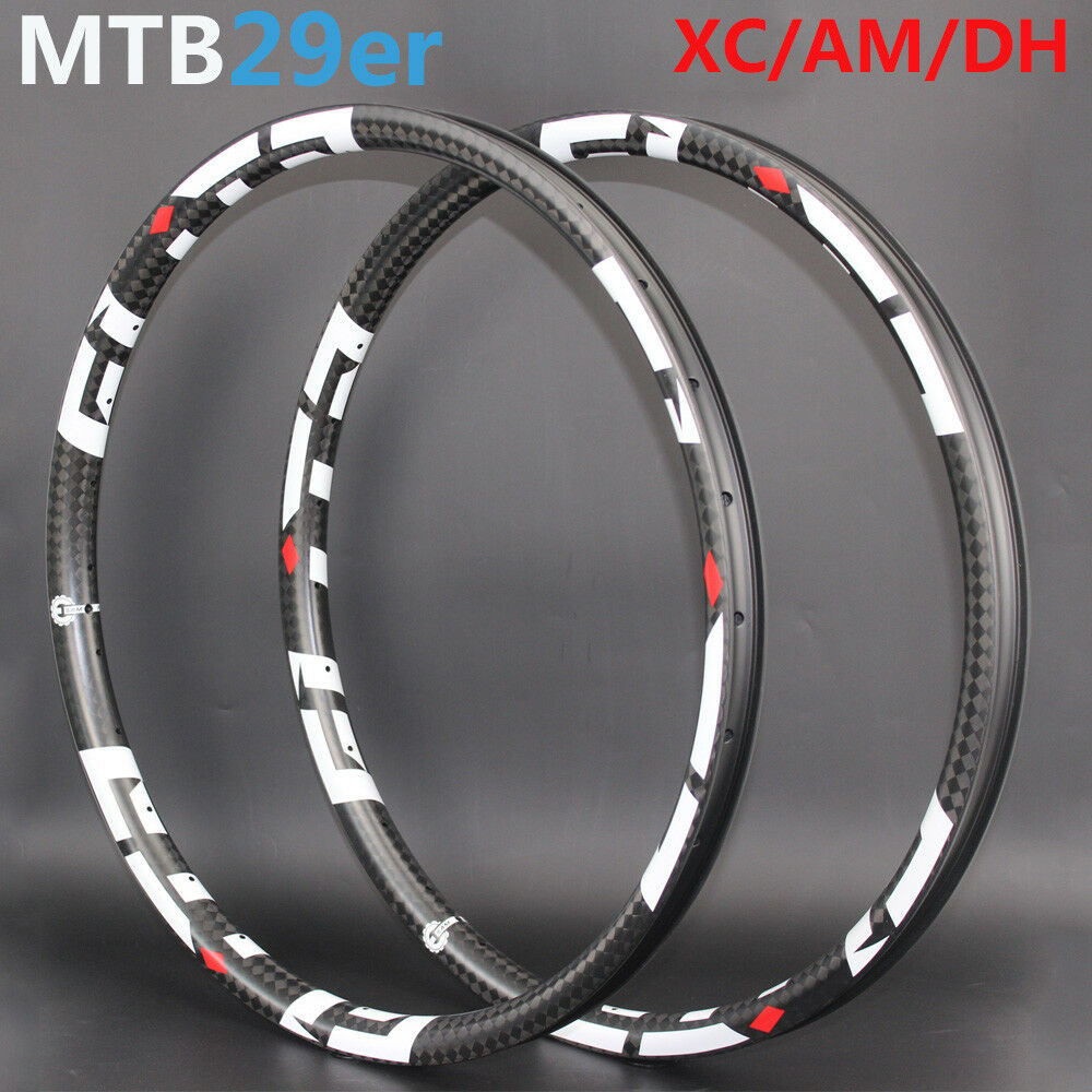 Light Weight XC AM DH Mountain Bike Carbon rims mtb 29er 40mm width 30mm depth