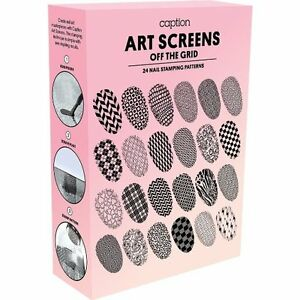 Young Nails Caption Nail Art Screen Off The Grid Stamping Kit 2
