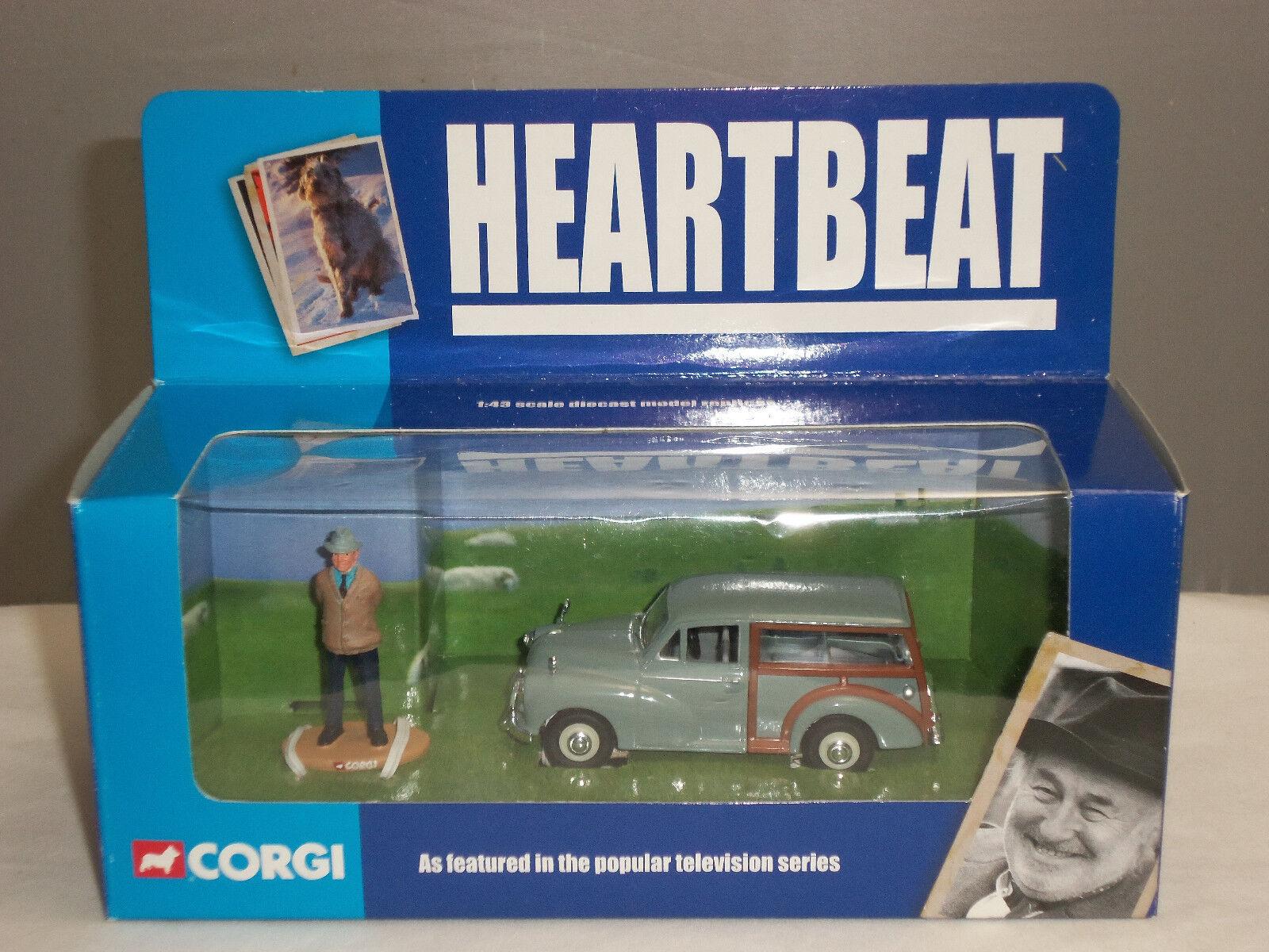 CORGI CC01701 HEARTBEAT GREY MORRIS MINOR TRAVELLER CAR + PC BLAKETON FIGURE
