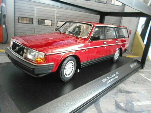 Volvo 240gl 240 GL Break Combi rouge red 1986 nouveau MINICHAMPS 1:18