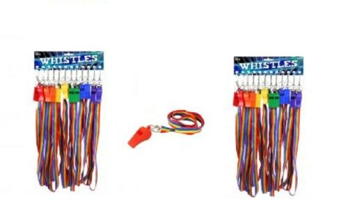 NEW RAINBOW PRIDE PLASTIC WHISTLES Party Whistle Toy Gift 5.5cm W//pride Cord