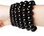miniature 7 - Unisex HighQ Bracelet Natural Black & Blue Onyx Agate Stone Yoga Beads Reiki UK