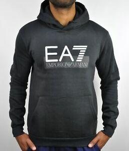 Emporio-Armani-EA7-Logo-Hoodie-in-Black