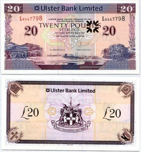NORTHERN IRELAND 20 POUNDS 2014 P 342 ULSTER BANK UNC