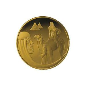 ISRAEL-COIN-amp-MEDAL-2018-BIBLE-STORY-ISAAC-amp-REBECCA-SMALLEST-GOLD