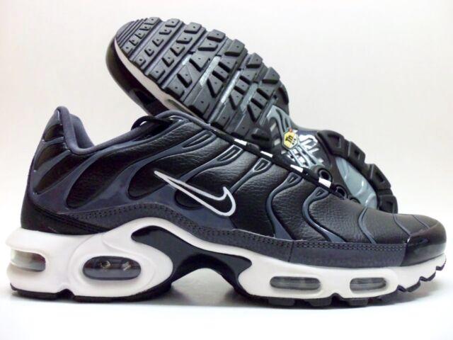 Nike Air Max Plus TN Tuned Running Shoes Dark Grey Black White Sz 9  604133-099 dfc932cc1