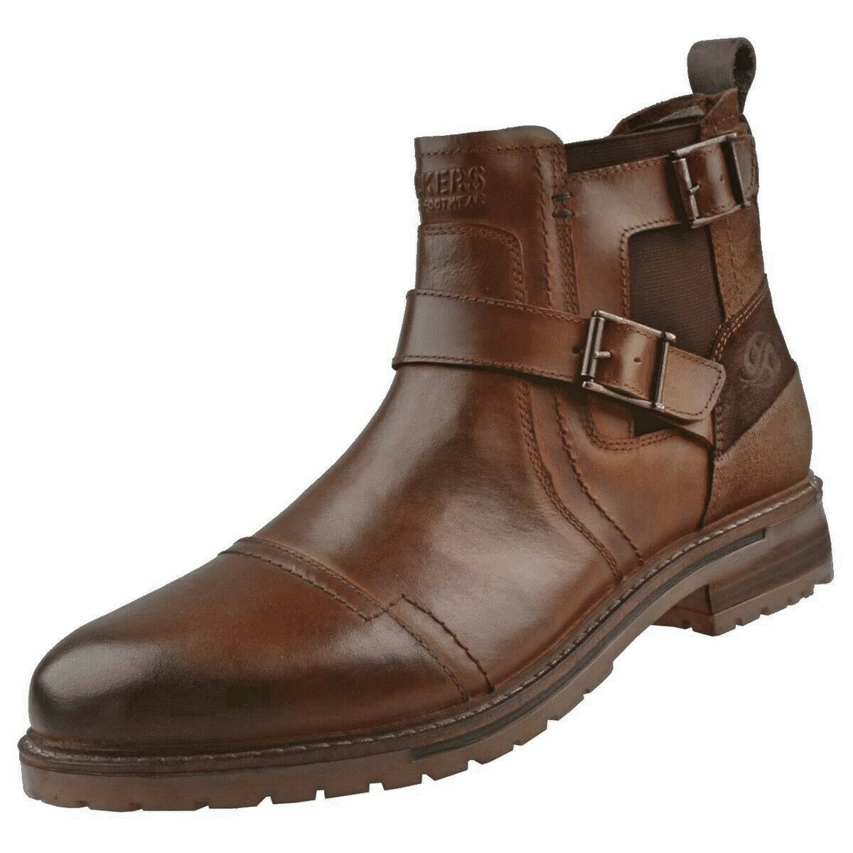 Dockers By Gerli 45LN004 Men's Buckles Boots Ankle Boot Boots Cognac