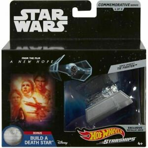 Darth-Vader-039-s-TIE-Fighter-Hot-Wheels-Die-Cast-Ship-by-Mattel-Star-Wars-4-of-9