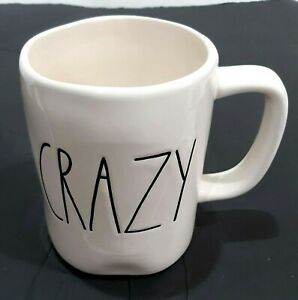 RAE-DUNN-ARTISAN-COLLECTION-MAGENTA-LARGE-LETTER-CRAZY-IVORY-MUG-CUP