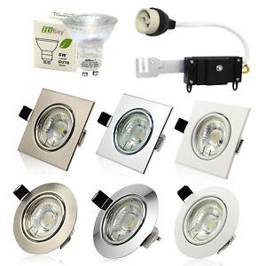 10X-GU10-LED-Moderno-Lamparas-Luces-de-techo-empotrados-Proyector-de-inclinacion-240V-Bombilla