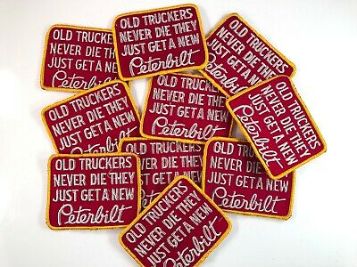 Vtg 1980s Trucking PETERBILT TRUCKS Embroidered Cloth Patch 64S