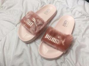 im Angebot niedriger Preis begrenzter Preis Details about PUMA RIHANNA FENTY PINK SLIDE FUR SANDAL 100% Authentic Size  6.5