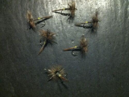 6  FEMALE ADAMS SIZE  12 LIGAS FLY FISHING FLIES