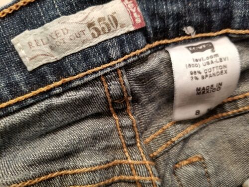 550 Cut Relaxed 8m Levi's Jeans Boot Womens Blue Størrelse dqccgZ