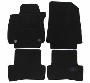 Renault-clio-IV-2012-2019-carpet-mats-tailored-black-velvet-AV-AR-4-pcs