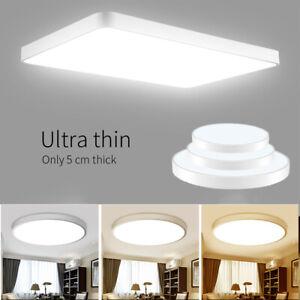 Modern LED 20-72W Deckenlampe Dimmbar Wandlampe Badleuchte Wohnzimmer UltraDünn