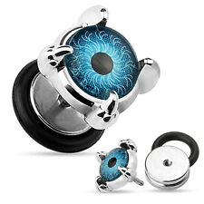 Claw And Eyeball Front 16g Surgical Steel Fake Plug / Ear Stretcher