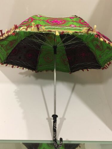 Pakistani Handmade Embroidery Umbrella Traditional Ethnic Decorative Small