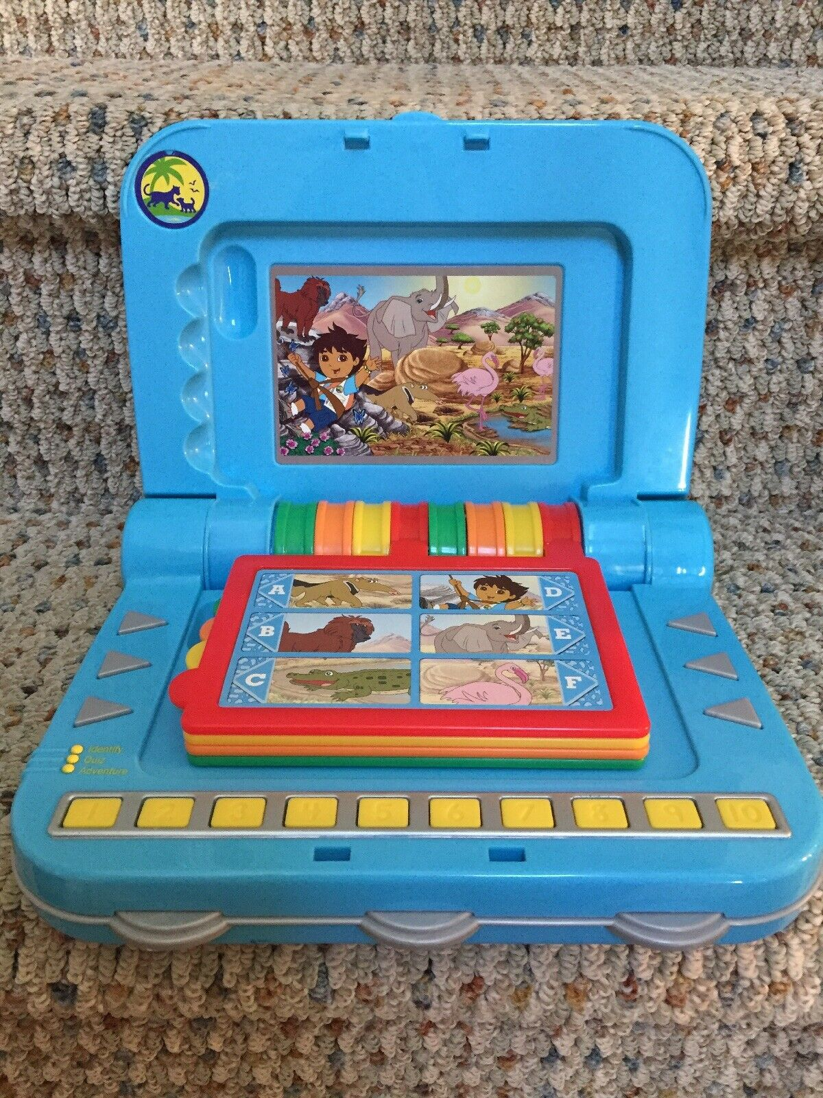 Go Diego Diego Diego Go INTERACTIVE LEARNING GAME MATTEL Laptop Animal Sounds RARE WORKS 08e531