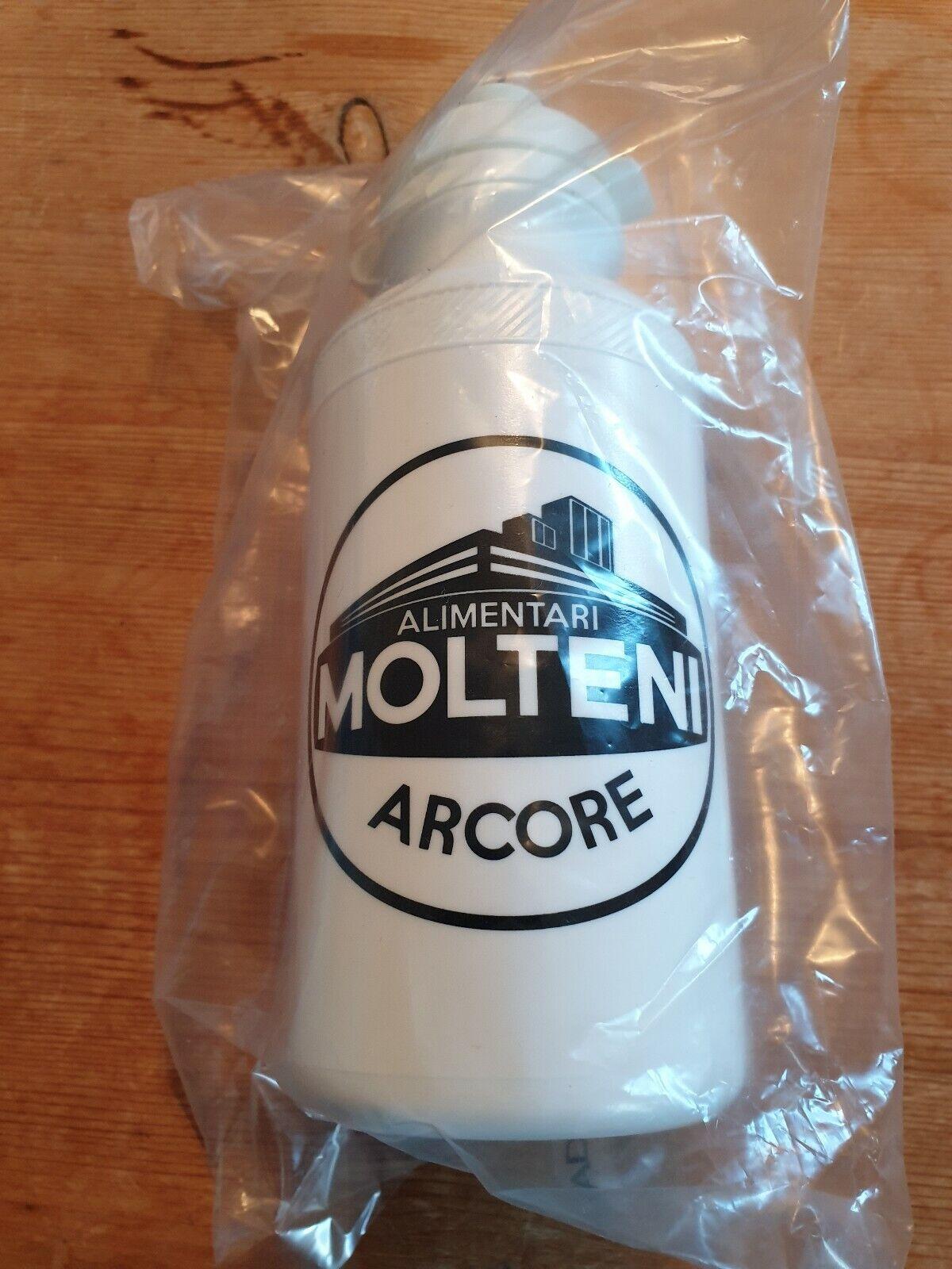 Retro Molteni Team Bottle/Bidon *Brand New & Sealed* (White) Colnago,Eddy Merckx
