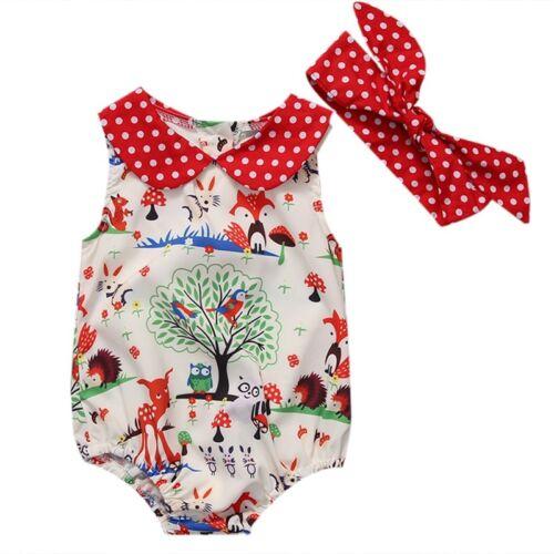 Newborn Infant Baby Girl Romper Jumpsuit Bodysuit Infant Clothes Outfit Sunsuit