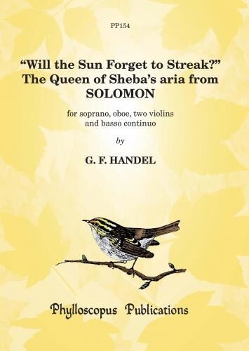 Queen Sheba aria Solomon 6 PP154 Grade Will the Sun Forget to Streak