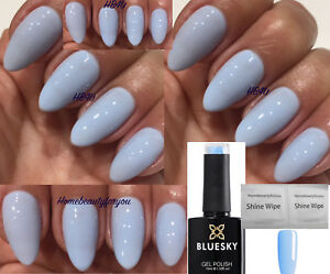 Bluesky 80596 Creekside Light Baby Blue Pastel Nail Gel