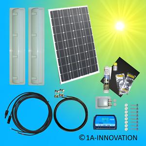 Solaranlage Komplett 100W Caravan Solar Set 12V Solarmodul Camping Wohnmobil