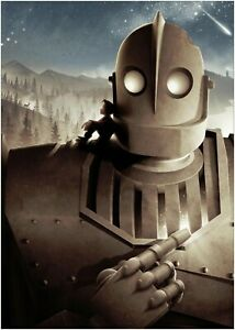 The Iron Giant Classic Movie Premium METAL Poster Art Print