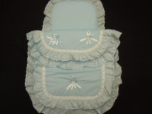 Hermoso Cochecito De Edredón Y Almohada Set adecuado para la mayoría Cochecitos Color Azul