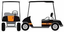 Racing Stripe Custom Number Golf Cart Decal Sticker Ez Go Club Car Yamaha Hdk