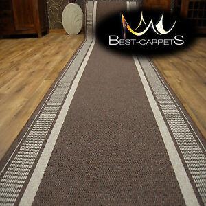 THICK Runner Rugs SARDIS grey modern NON-slip Stairs Width 67-100cm extra long
