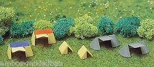 BUSCH 8120 Spur N, Campingzelte, 6 verschiedene Zelte, Fertigmodell, Neu