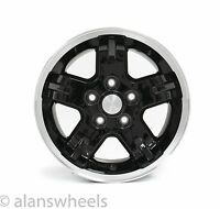 "Jeep Wrangler Cherokee 15"" Black Machined Wheels Rims & Lugs Free Shipping"