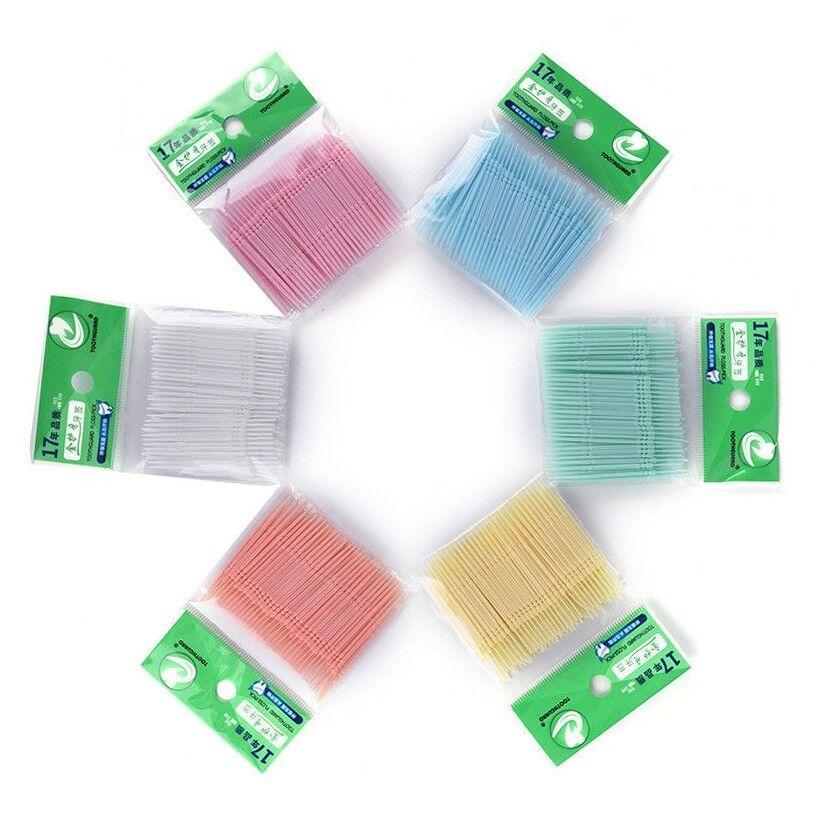 100 Plastic Individually Wrapped Plastic Toothpicks Dental Picks NEW /& GENUINE