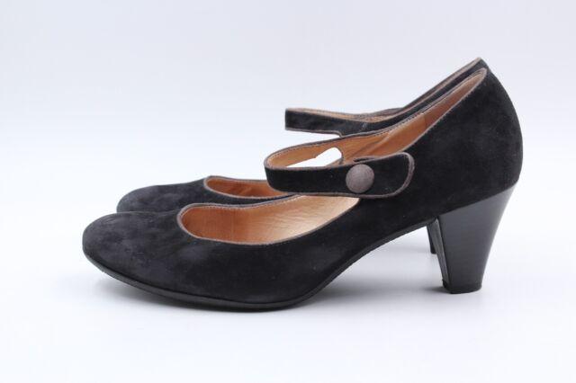 PETER KAISER Pumps Schwarz Gr. 37,5 UK 4,5 Leder Wildleder Damen Schuhe