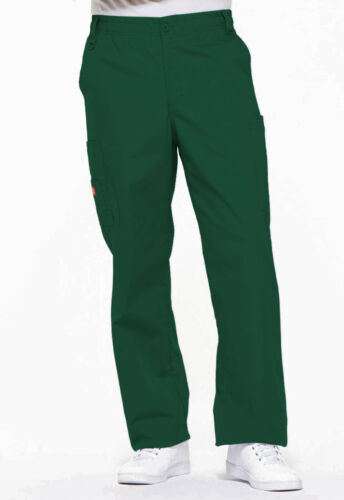 Hunter Green Dickies Scrubs EDS Mens Zip Fly Pull On Pants 81006 HUWZ