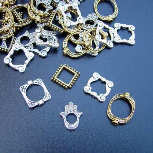 50 x Perles Cadre MIX Bijoux Pendentif argent-or-bronze couleur-p00889x2v