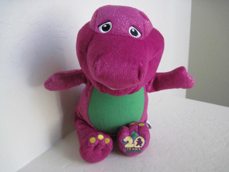 BARNEY Lyons SING W LIGHT & Celebrate 20 Years 14  Plush Stuffed Animal