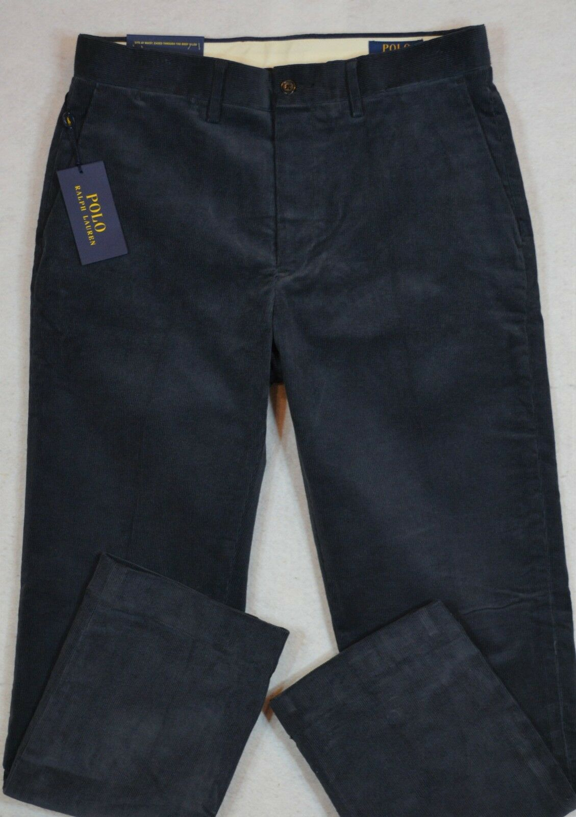 Polo Ralph Lauren Corduroy Stretch Classic Fit Pants Navy 34 30 34 32 NWT