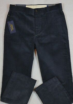 Polo Ralph Lauren Corduroy Stretch Classic Fit Pants Navy 34//30 34//32 NWT