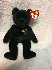 Ultra Rare Ty Beanie Baby   034 The End  034  Bear New with Tags 65020e1f692