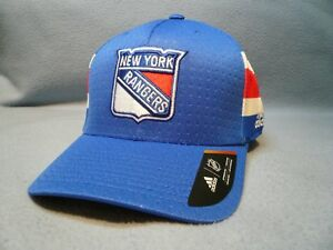 new arrival d3316 de353 Image is loading Adidas-New-York-Rangers-Structured-Flex-S-M-or-